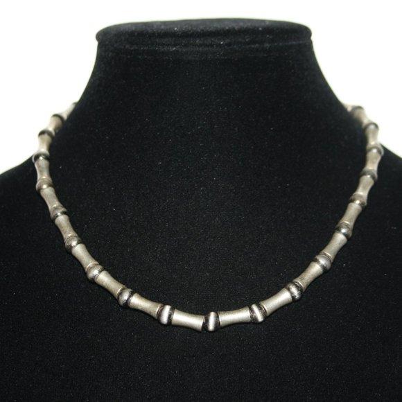 """Punk silver necklace men/ women 18"""""""